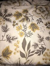 Threshold Gray / Yellow Fall Floral Shower Curtain ~ Yellow Grey Flowers