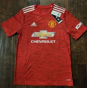 New Adidas 2020-21 Manchester United Youth Home Jersey - Aeroready Red XL $80+
