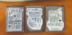 500Gb 5400Rpm 2.5 Drives x 3 System Pull lot 4