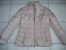 ANTONELLE :veste matelassée manteau beige fourrure renard 38 40  M 2