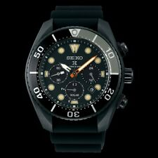 Seiko Prospex Black Series Solar Chronograph Men's Watch