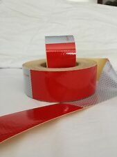 "CONSPICUITY REFLECTIVE TAPE RED / WHITE 2"" X 24'  7 X 11 PATTERN"