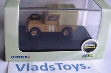"Oxford Military 1/76 Series 1 Land Rover 88"" canvas top Sand/Military LAN188002"