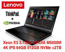 NEW ThinkPad P70 Xeon E3 1505 nVIDIA M5000M 4K IPS 64GB 2.5TB 3Y OS Warranty P71