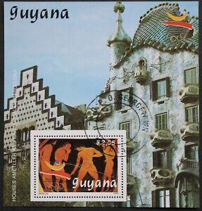 """Guyana: Michel Block-Nr. 68 """"Olymp. Sommerspiele´92"""" aus 1989, gestempelt"""