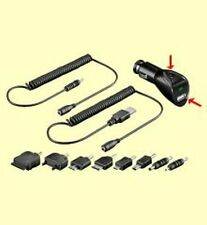 Auto-Lade-Kit mit dualer Ladefunktion + 8 Adaptern für Handys, iPod, iPhone  #WP