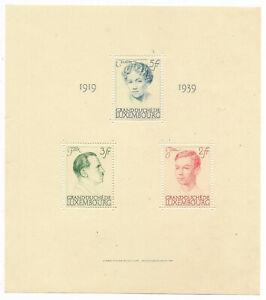Luxembourg 1939 - Bloc anniversaire règne - Livraison offerte dès 5 lots groupés