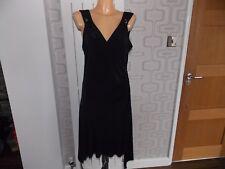 Black River Island Black Wrap Dress Size 14