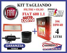 KIT TAGLIANDO OLIO SELENIA 10W40 + FILTRI FIAT 600 SEICENTO 1.1 --->09/2000