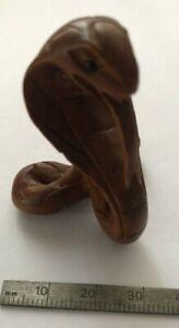Antique Vintage Japanese / Chinese boxwood Netsuke Snake