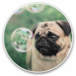 2 x Vinyl Stickers 7.5cm - Cute Pug Playing Dog Puppy Pet Cool Gift #16800
