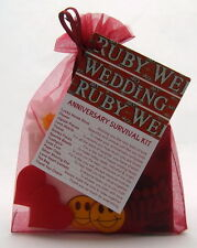 Ruby 40th Wedding Anniversary SURVIVAL KIT Novelty Gift Idea Fun Present