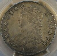 1827 Square Base 2 Capped Bust Half Dollar 50c O-104 PCGS Certified AU50