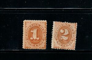 US Stamp SC# J1 - J2. Mint No Gum. 1879