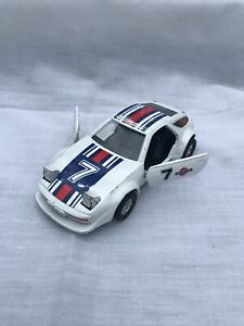 Vintage White Superior Racers Pull Back Action Porsche 928 - 1/39 Scale