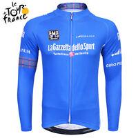 Men Cycling Race Team Winter Thermal Fleece Tops Long Sleeve Jersey Sport Wear
