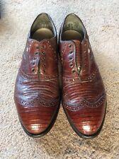 Footjoy Vintage Rare ALL Lizard Classic Golf Shoes 11D