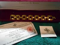 NEW Camrose Kross Jacqueline Kennedy Gold Colored BUCKLE Type Bracelet COA JTY