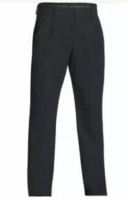 Men's Under Armour Unhemmed Black Golf Pants Size 36 NWT 1293914