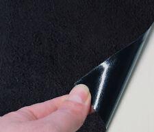 25€/m² Microfaser-Stoff selbstklebend schwarz - 70 x 144 cm Velour-Optik Folie