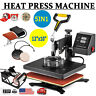 5In1 Digital Heat Press Machine Sublimation T-Shirt Mug Plate Hat Printer 12x10