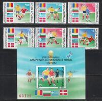 Romania 1990 MNH Mi 4586-4591+Block 260 Sc 3595-3600 World Cup Soccer.Italy'90**