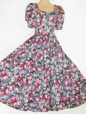 LAURA ASHLEY VINTAGE ENGLISH SUMMER FLOWERS SPECIAL OCCASION DRESS,10/12