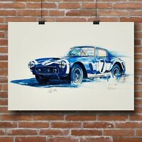 Ferrari 250GT  CANVAS Print Art Racing Car Poster Vintage GT Rare