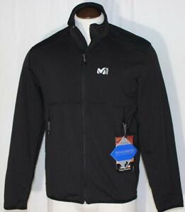 NEW Millet Tech Stretch Light-Weight Jacket  Running Hiking Black $125 Front Zip