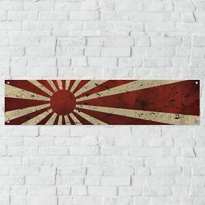 JDM Japanese Navy Banner Garage Workshop PVC Sign Motorsport Car Display