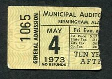 1973 Ten Years After concert ticket stub Alabama Rock & Roll Music to the World
