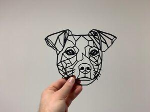 Geometric Jack Russell Dog Pet Animal Wall Art Decor Hanging Decoration
