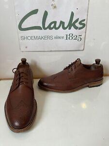 Clarks Smart Full Leather Brogue Shoes Size UK 9 EU 43