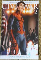 CIVIL WAR 2 SPIDERMAN UNMASKED VARIANT Marvel Comics