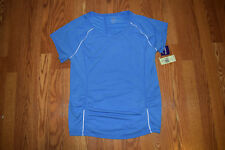 Nwt Womens Tangerine Turkish Blue Exercise Fitness Running Shirt Size L