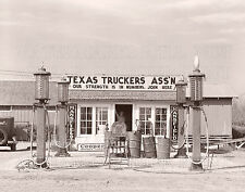 Truck gas station pumps Edcouch Texas TX 1939 photo 5x7 or request 8x10 or CD or
