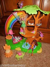 DISNEY TINKERBELL THE GREAT FAIRY RESCUE PIXIE POWER FAIRIES TREE PLAYSET LOT