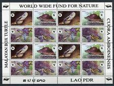 Laos Lao 2004 WWF Schildkröten Turtles ZD-Kleinbogen 1927-1930 Postfrisch MNH