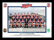 2018 Sydney Roosters Premiers Team Photo Framed