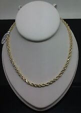 Gold Rope Chain For mens & ladies 22 Inch, REAL GOLD 2.7mm Thick BRAND NEW!!