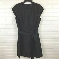 Brooks Brothers New $398 Women's Black Short Sleeve Shift Dress Size 14