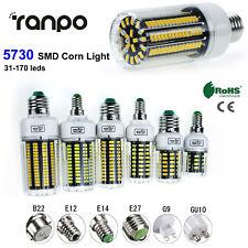 E12 E14 E27 B22 LED Maíz Bombilla Luz Lámpara 110 V 220 V 5730 SMD 30 165 W equivalente