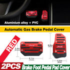 Red Non-slip Automatic Gas Brake Foot Pedal Pad Cover Car Accessories Parts