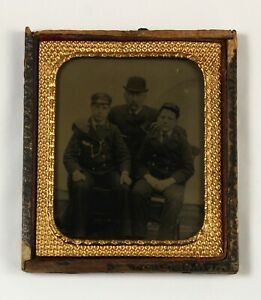 1880 rare tintype photograph TWO boy seamen young naval cadets rudyard horton