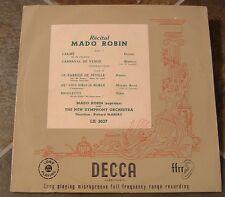 "10 Inch Album By Mado Robin, ""Recital"" on Decca  Pressed in England"