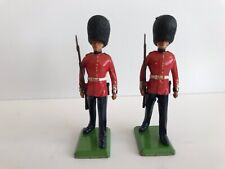 Lot of Two Vintage Lead Soldiers Britains Coldstream Queen Guards Tin