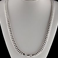 "Heavy 6mm Solid 925 Sterling Silver Miami Cuban Link Chain Necklace 20"" 24"" 30"""