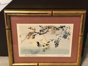 """""""Happy Babies"""" by Chang Shu Chi ~ Vintage Framed Print Ducks Andres New York N.Y"""