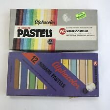 Lot Of 2 Boxes Vintage Alphacolor Square Pastels Art Supplies Weber Costello