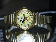 "LN All Metal 6.5"" Mickey Mouse Disney Lorus by Seiko Gold Watch. 2 Year Warranty"